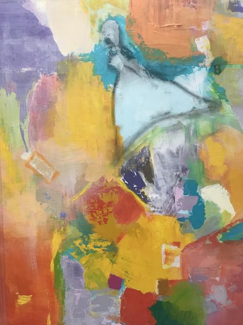 Number 8 by Sally K Eisenberg, acrylic on canvas
