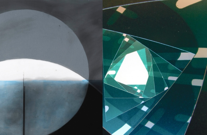 Alice Austin and Andrea Krupp two artworks